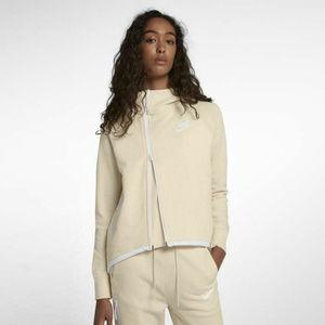 Womens Nike Tech Fleece Full Zip Cape Hoodie